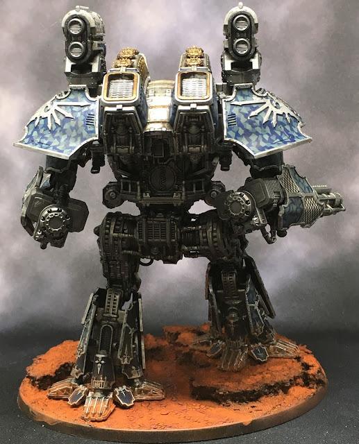 Adeptus Titanicus Legio Tempestus Warlord Battle Titan WIP - light box