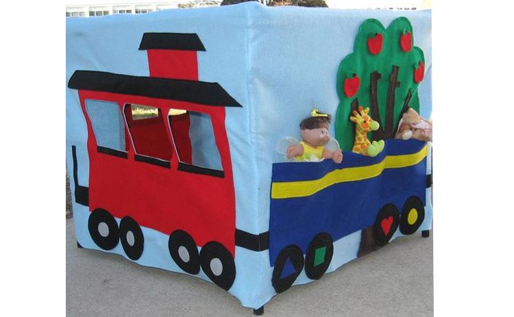 barraca de mesa para crianças de feltro