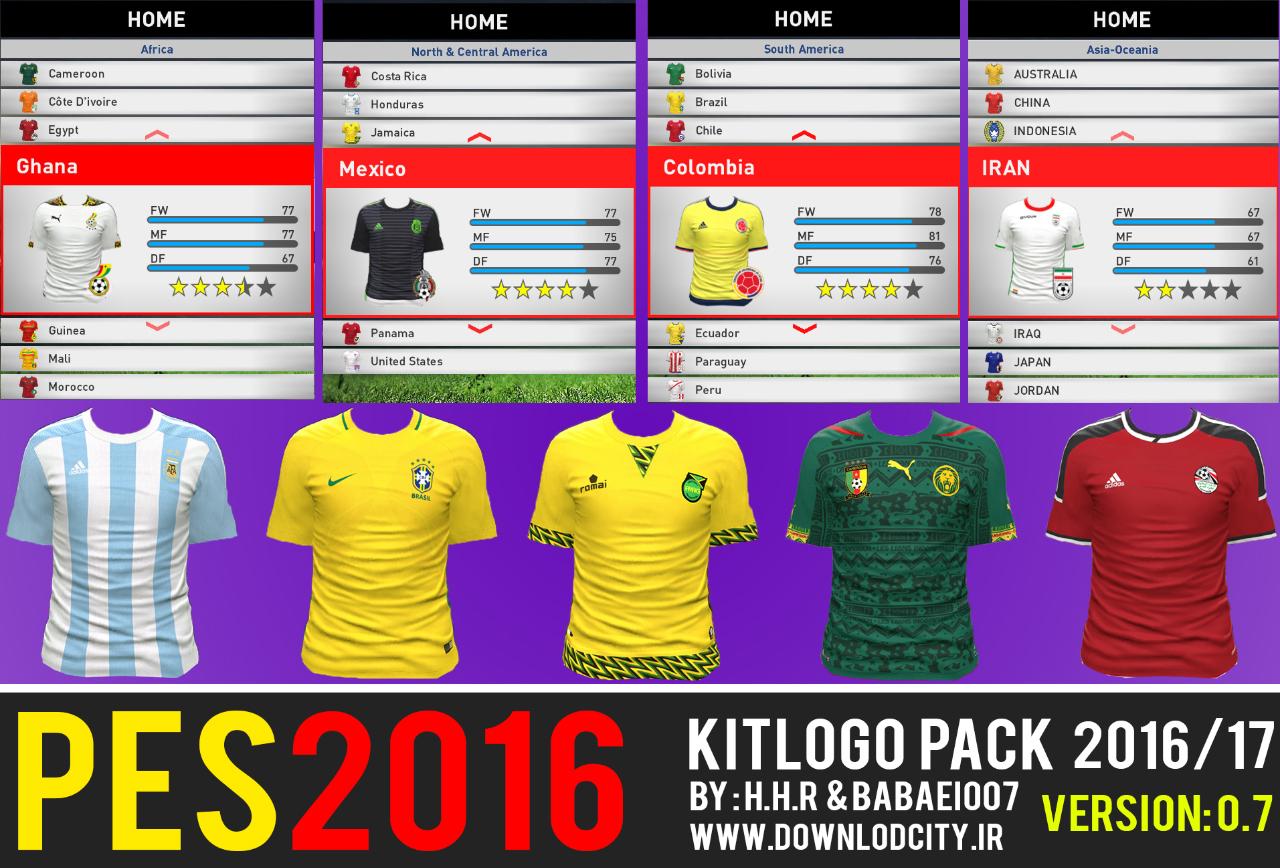 bb04e32b0e4 PES 2016 Kitlogo Pack 2016-17 HD V.07 By Downlodcity  National Teams ...