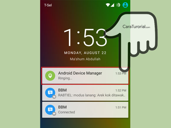 Android Device Manager Ringing...