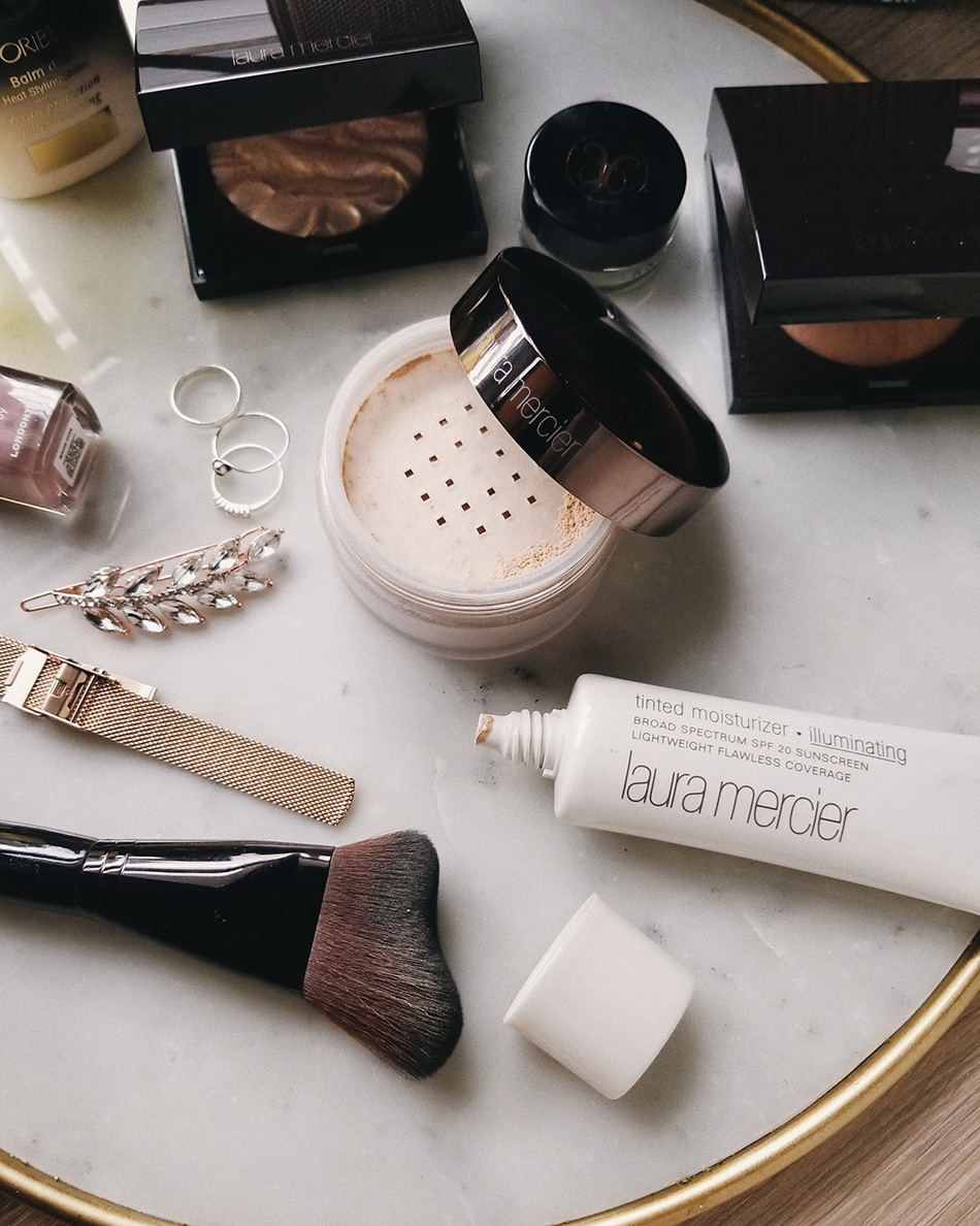 laura mercier glow powder and glow powder brush