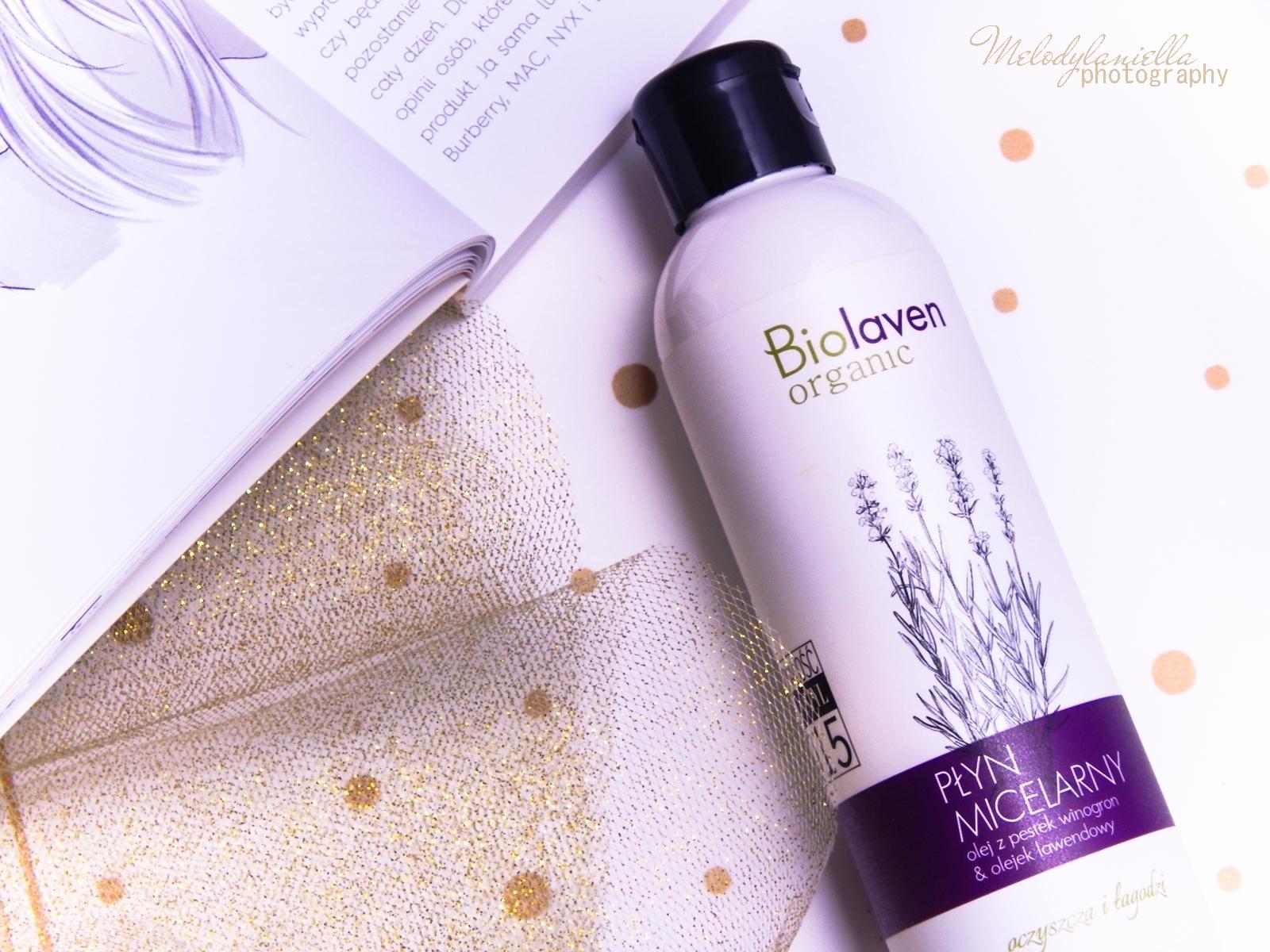 2 biolaven organic płyn micelarny olej z pestek winogron olejek lawendowy kosmetyki do demakijażu test płynu micelarnego melodylaniella twój styl 2015