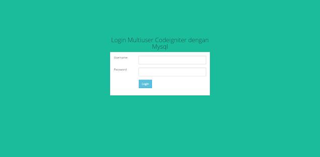 Membuat Sistem Login Multiuser Dengan Codeigniter