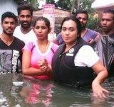 Gayathri Irosha Dias helps flood victims