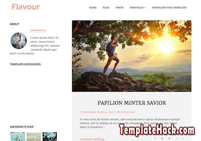 flavour blogger template