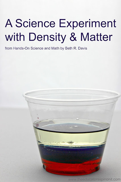 The Educators' Spin On It: Hands-On Science and Math Book Review:  Density Science Experiment