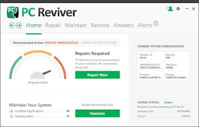 تحميل برنامج  PC Reviver لصيانة الكمبيوتر بشكل متكامل