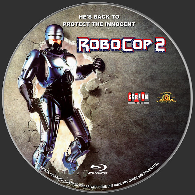 RoboCop 2 Bluray Label