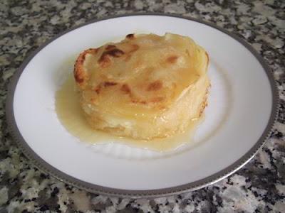 Milhojas de patata y manzana