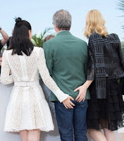 Rooney Mara, Cate Blanchett, Todd Haynes at a Cannes photo call 2015