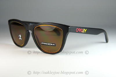06737d252 oo9013-E255 Frogskins Fire and Ice Collection matte black + prizm bronze  $205 lens pre coated with Oakley hydrophobic nano solution