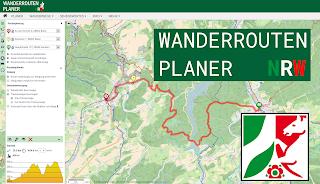 Ein Screenshot des Wanderroutenplaners