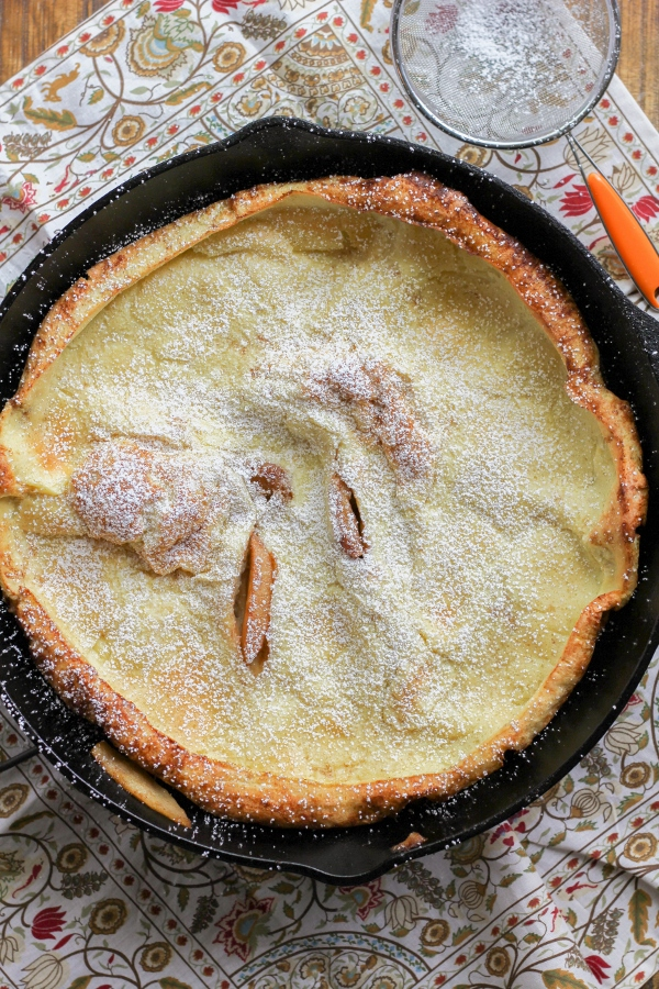German Apple Pancake | The Chef Next Door #SundaySupper