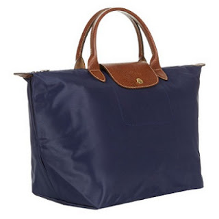 Longchamp Navy Le Pliage Medium Handbag