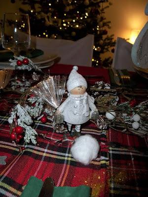 idée decoration table de noel pas chere rouge et vert