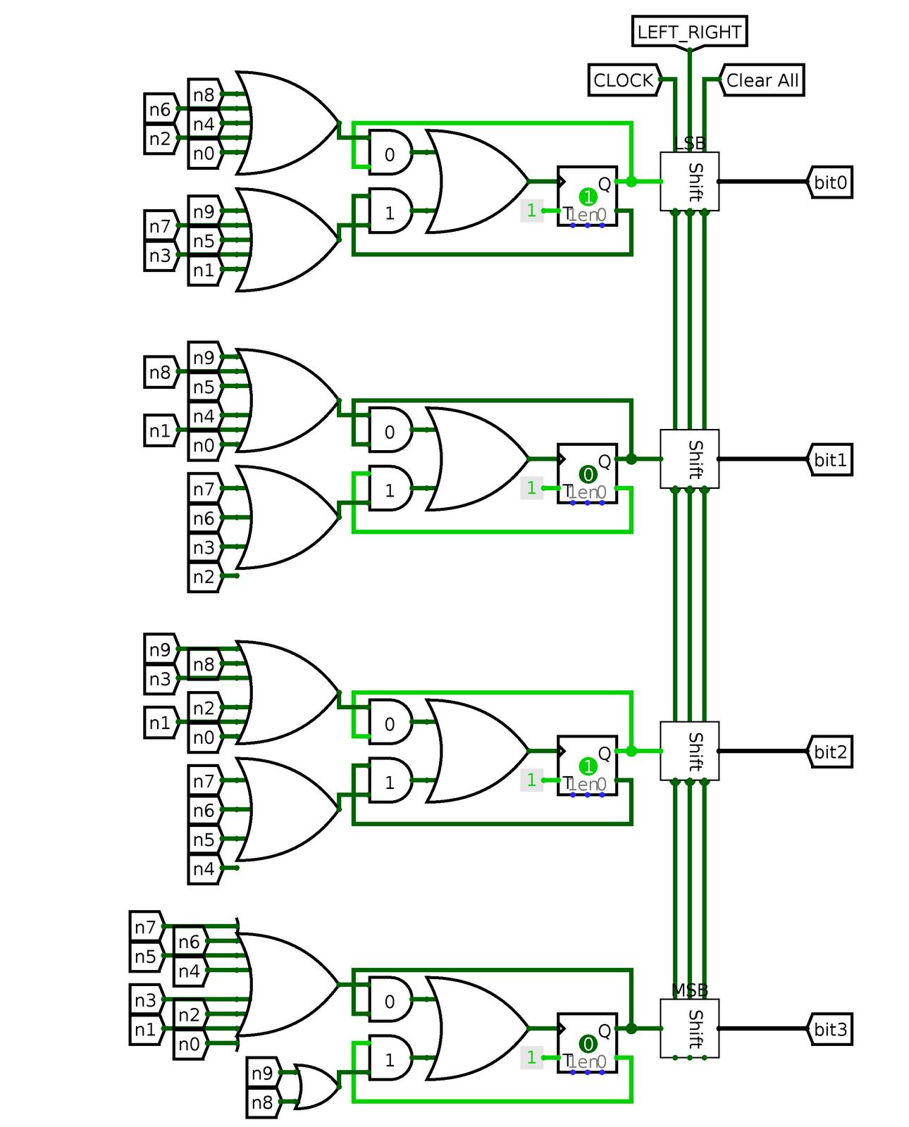 my blog simple calculator display logic circuit made. Black Bedroom Furniture Sets. Home Design Ideas