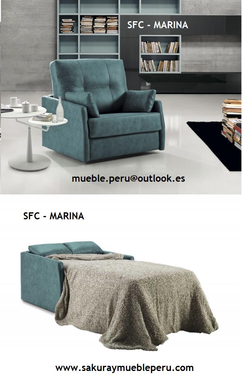 Mueble Peru Sakuray: SOFA DE 1 PLAZA : SFC - MARINA