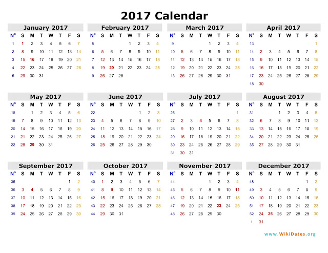 Printable Calendar 2016: 2017 Printable Calendar Blank Templates