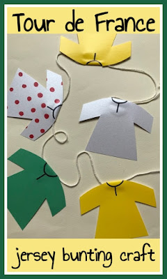 Tour de France craft for children
