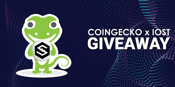 CoinGecko & IOST is giving away 28000 IOST!