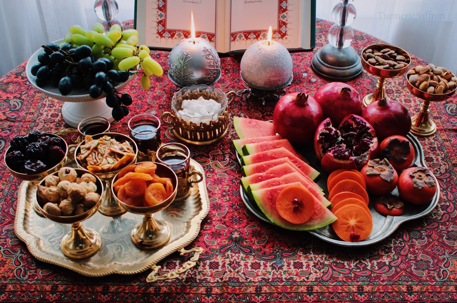 My Mother Always Had The Yalda Spread On Our Dining Room Table And It Was Winter Watermelon Pomegranate