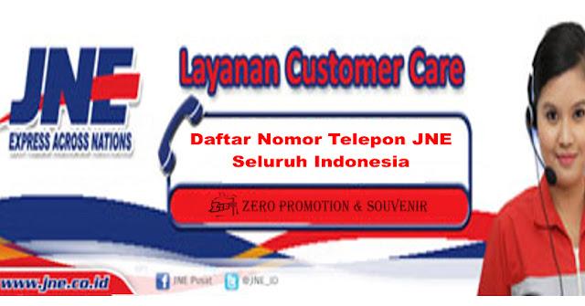 Daftar Nomor Telepon JNE Seluruh Indonesia