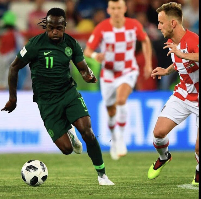 Victor Moses in action against croatia