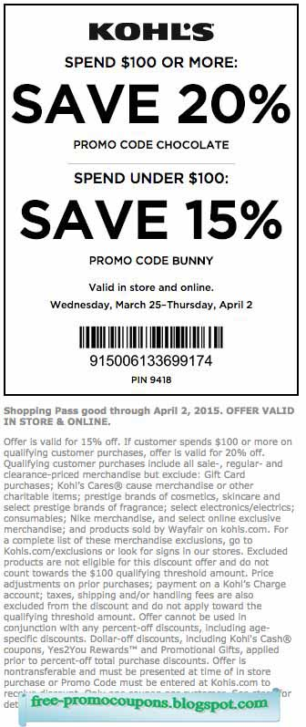 Special Deals & Promotions Available in-store at Kohls or Online at unatleimag.tk There are many popular deals that can be found around the website. The site offers deals where people can get discounts of 10 to 25% off of their orders depending on how much money they spend on their transactions.