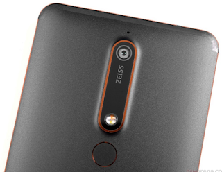 Nokia 6 (2018) Back Camera and Fingerprint reader