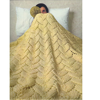 Herringbone Lace Afghan Knitting Pattern