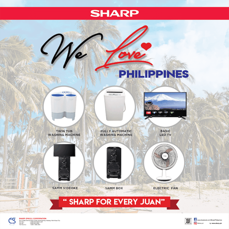 "Sharp announces ""We love Philippines"" campaign"