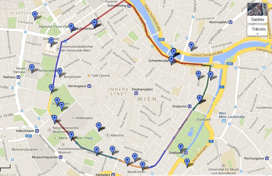 mapa de viena com pontos turisticos Uma volta pela região do Ring (Ringstrasse), em Viena   Viagens e  mapa de viena com pontos turisticos