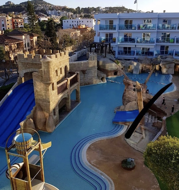 pirate village splash pool and slides