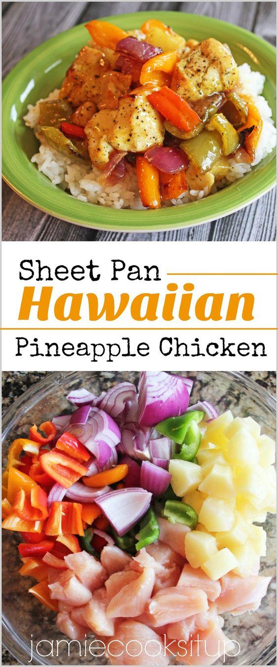 Sheet Pan Hawaiian Pineapple Chicken Recipe Cucina De Yung