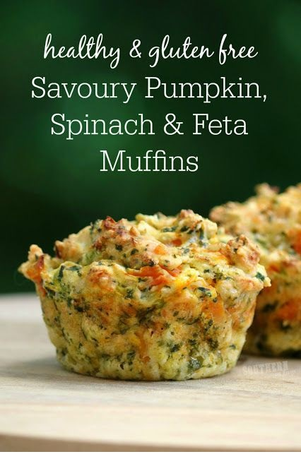 Savoury Pumpkin Spinach And Feta Muffins Recipe