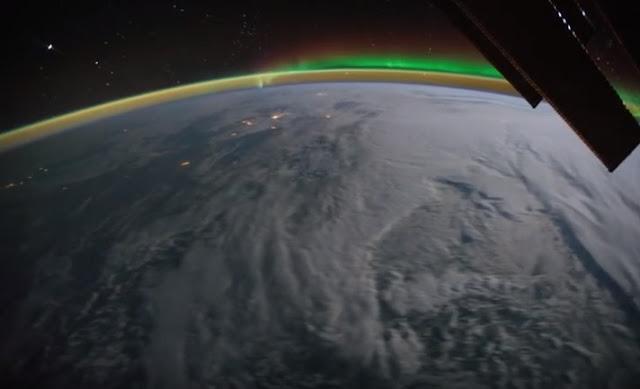 Εντυπωσιακό: Η περιστροφή της γης από τον Διεθνή Διαστημικό Σταθμό (βίντεο)