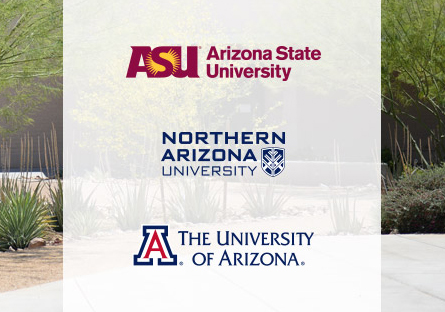 Poster displaying logos for all three Arizona state universities