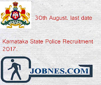 Karnataka State Police Recruitment 2017  for 1588 various posts  apply online here