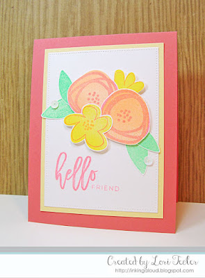 Hello Friend card-designed by Lori Tecler/Inking Aloud-stamps from Right at Home