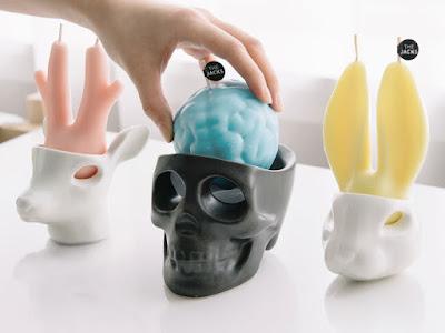 Porta velas cabeza de animales y calavera