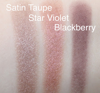 mac satin taupe star violet blackberry swatch