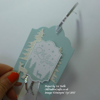 Merry Little Label Tag in Soft Sky