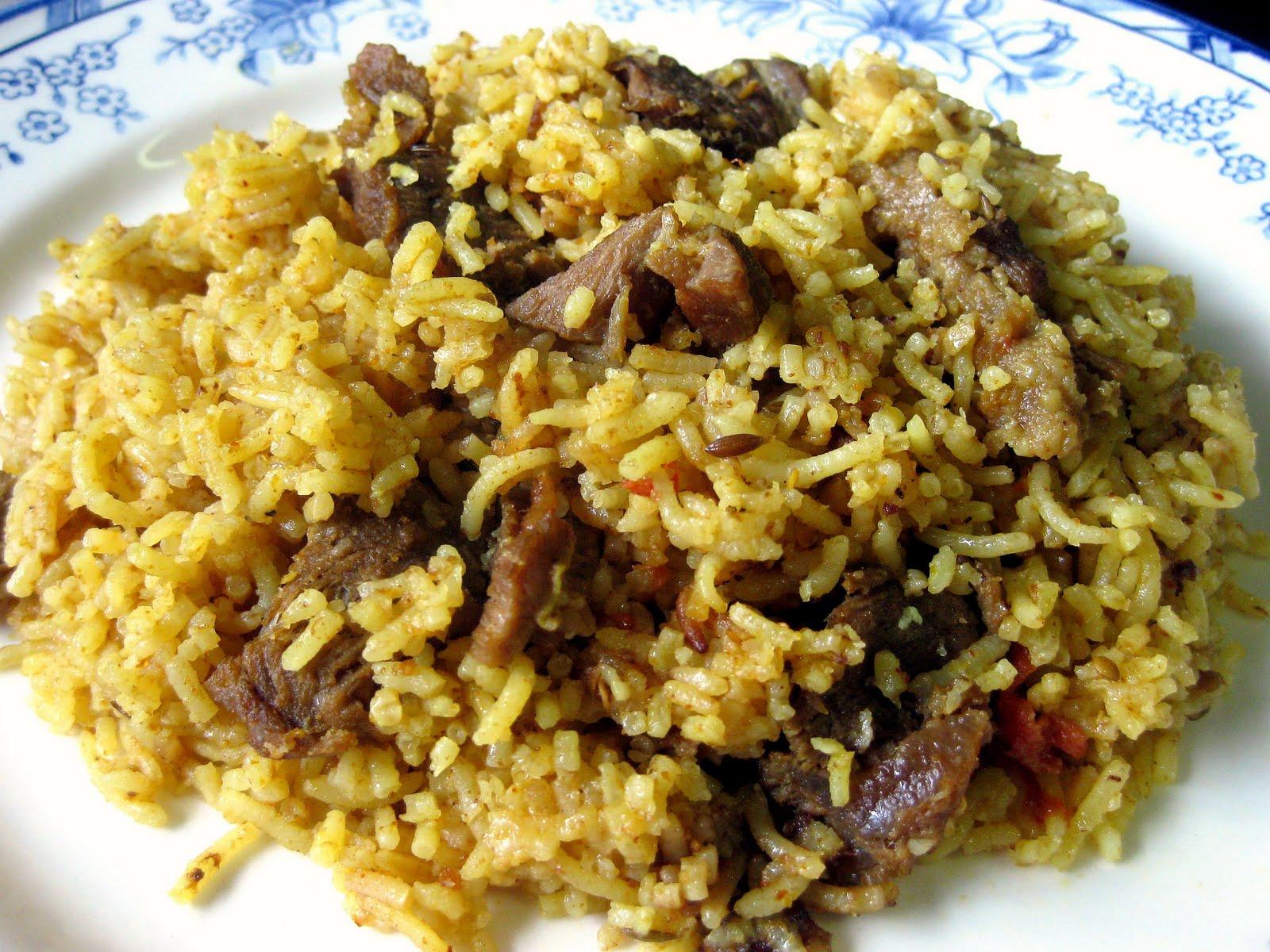 RESEPI NENNIE KHUZAIFAH: Nasi beriani daging Bombay