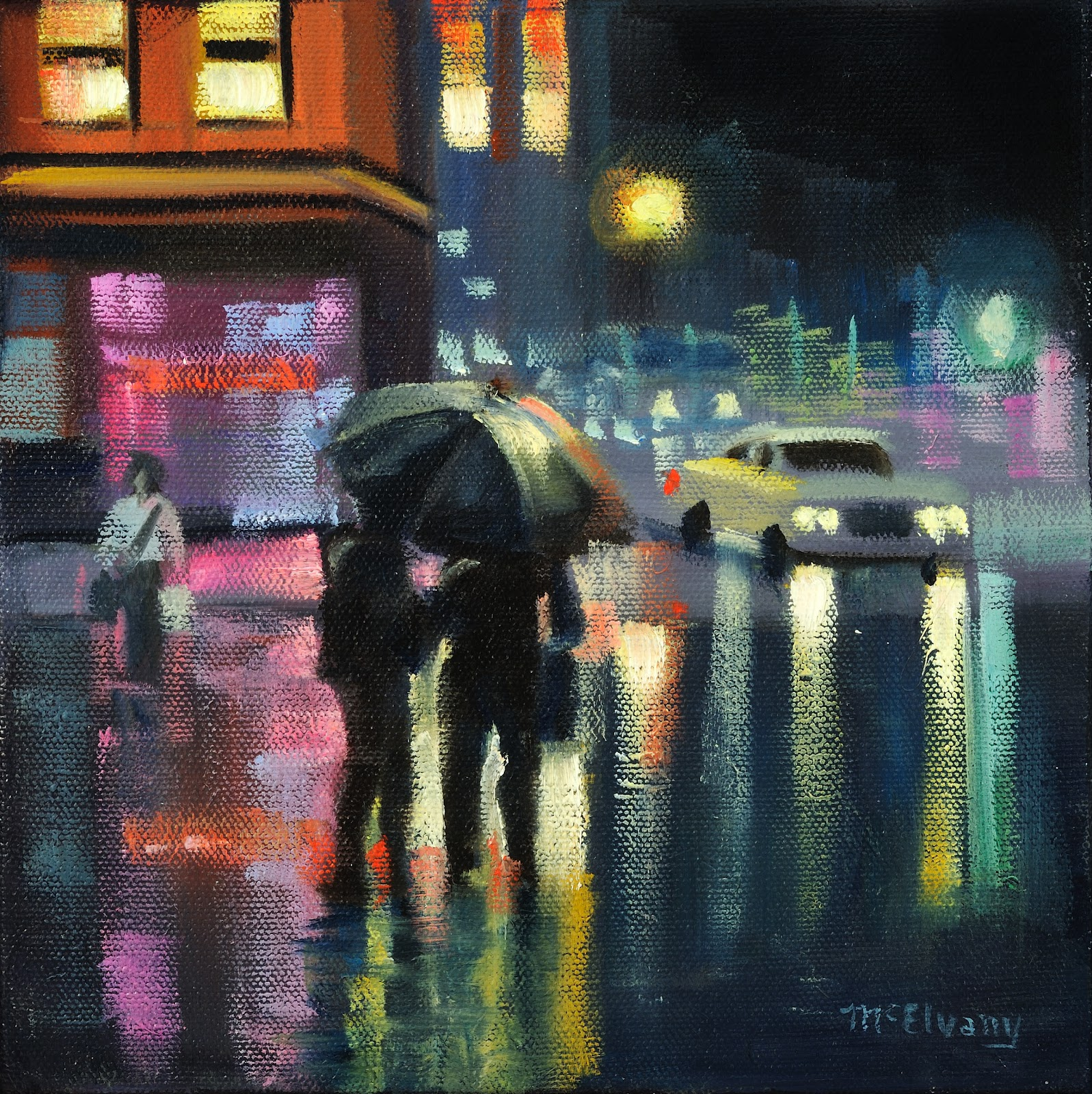 Street Light At Night Painting An Artist 39s Life Jane Mcelvany Coonce Bright Lights On A