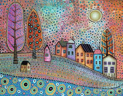 Arte Naif Americano Pintura Karla Gerard Paisajes