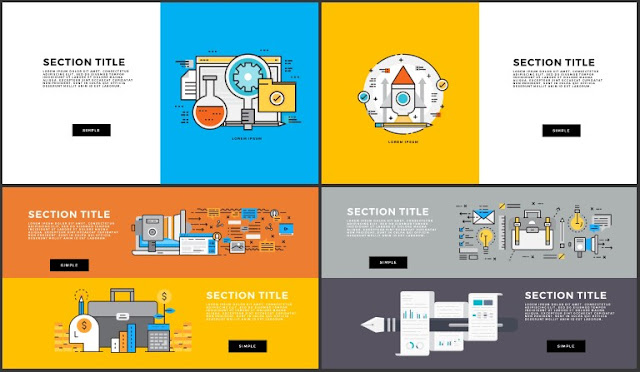 Free Infographic Section Titles PowerPoint Template Slide 45-48