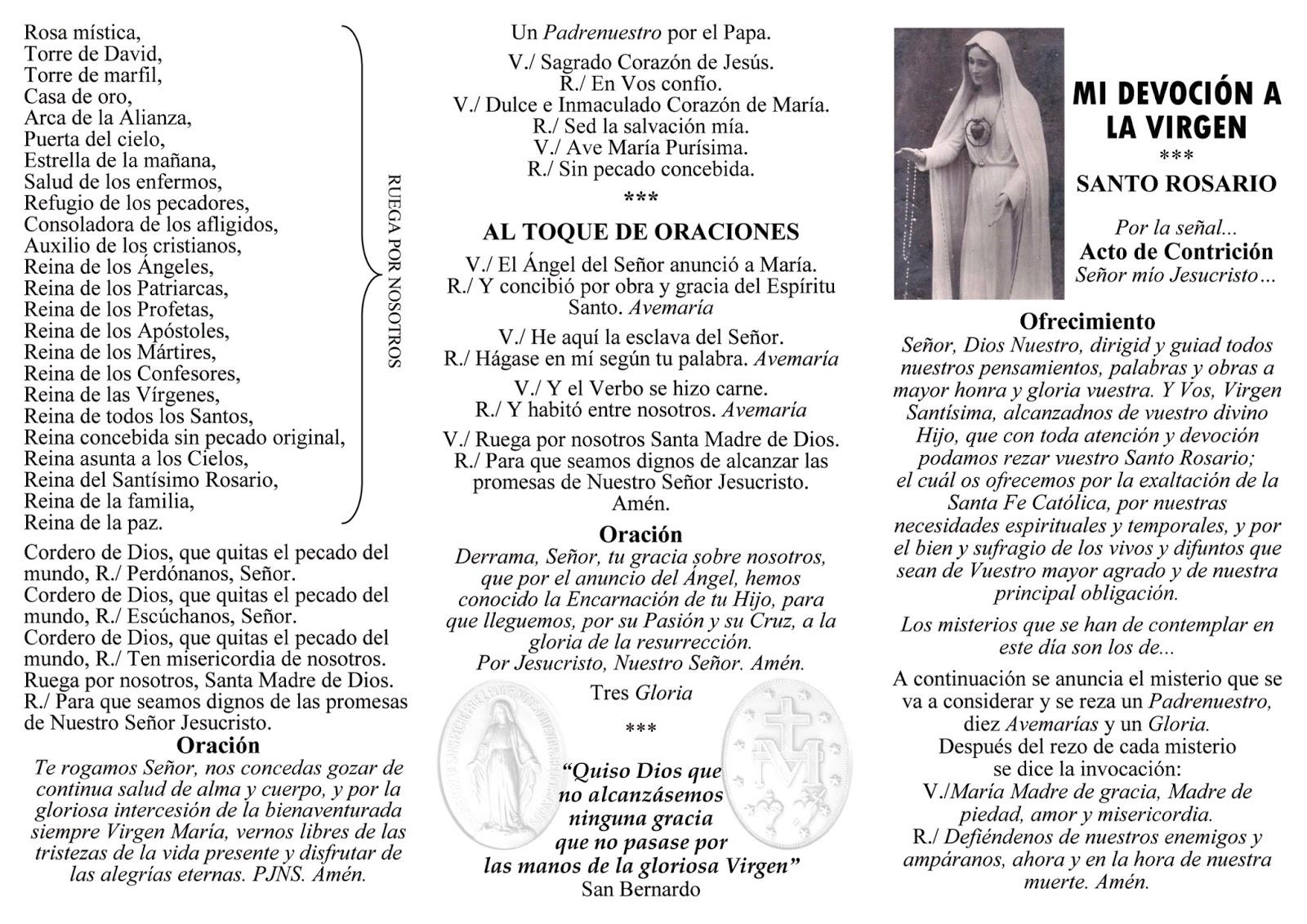 Doctrina Católica Folleto Para Rezar El Rosario Avemaria Popular Cantada En Honor A La Virgen Y Medios Para Difundir El Santo Rosario