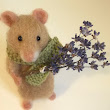 Lottie The Needle Felted Lavender Healing Mouse