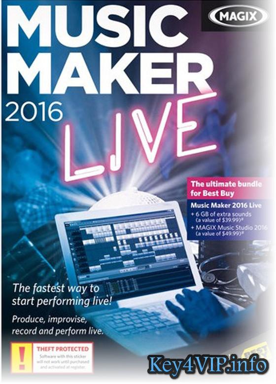 MAGIX Music Maker 2016 Premium 22.0.3.63 Full Key - biên tập và chỉnh sửa âm thanh đỉnh cao