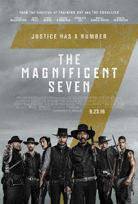 Cinema poster for the magnificent seven released September 23 2016